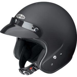 Jet-Helm in mattschwarz
